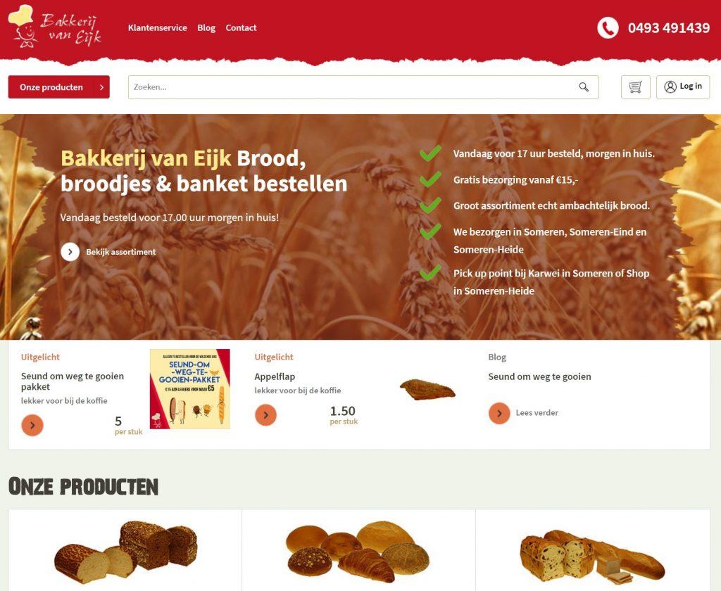 webshop bakkerij van eijk - someren-eind
