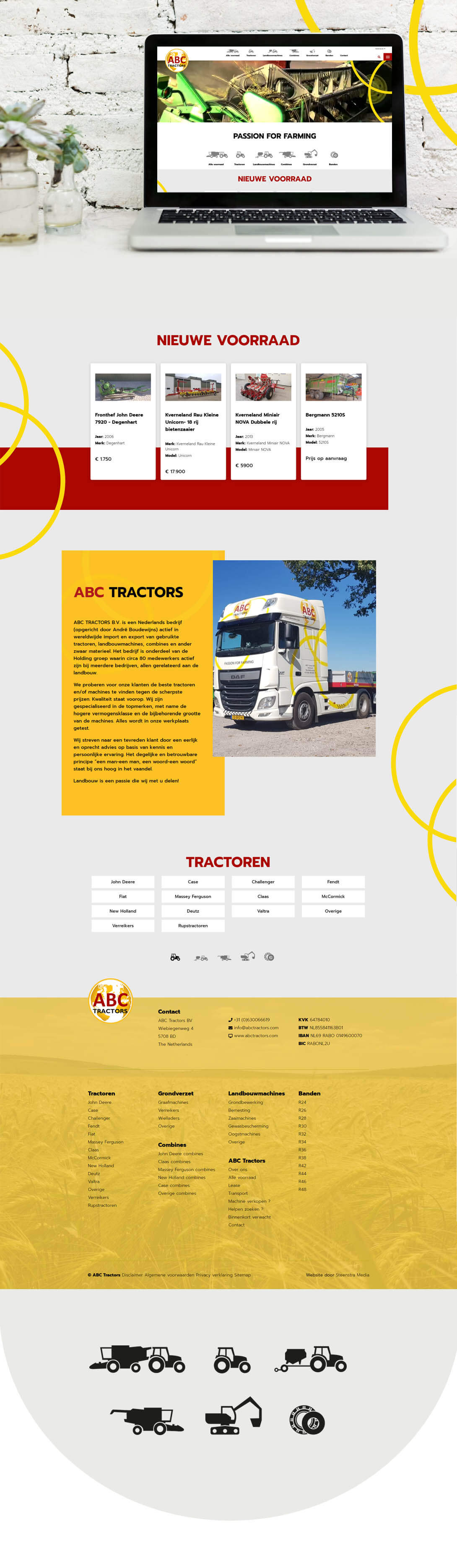 Tractor Website laten maken Steenstra Media Helmond