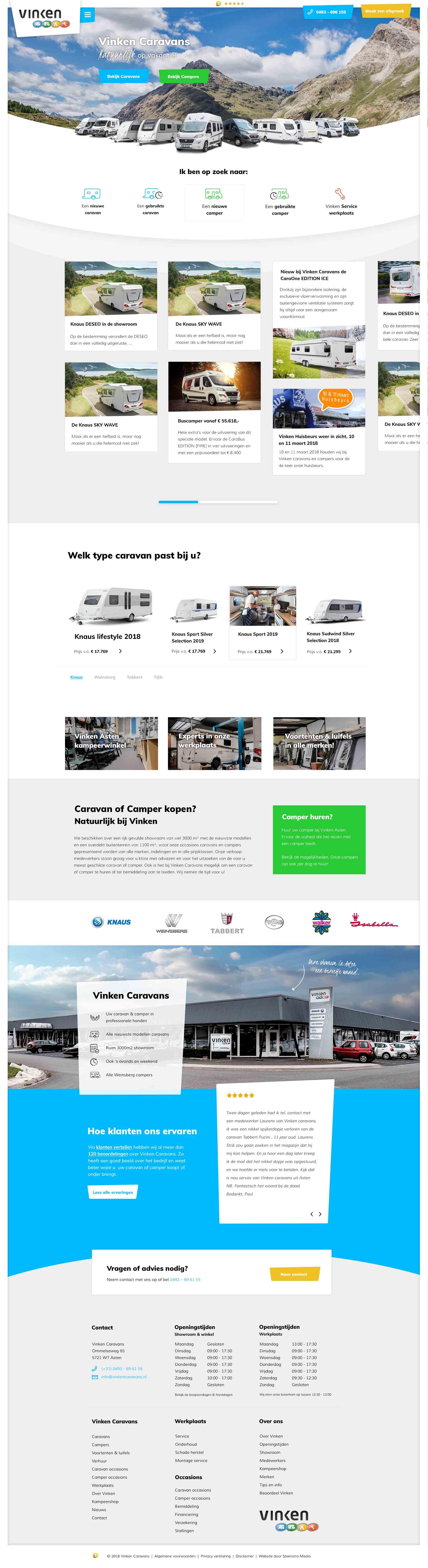 Vinken-Caravans-reclamebureau-internetbureau-website-maken-steenstramedia-someren