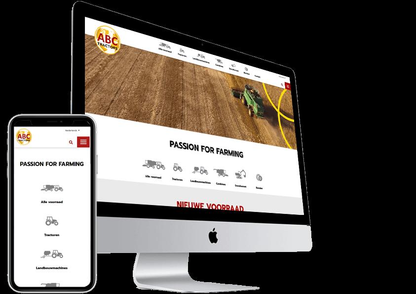 Wordpress website maken ABC tractor Helmond