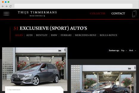 voorbeeld website applicatie thijs timmermans