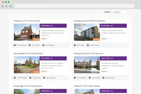 voorbeeld website applicatie wijnen vastgoed