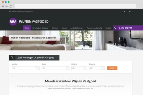 voorbeeld wordpress plugin wijnen vastgoed