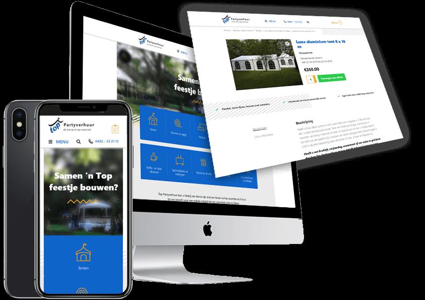 TopPartyverhuur-Someren-nieuwe-website-wordpress-Steenstra-Media-reclamebureau