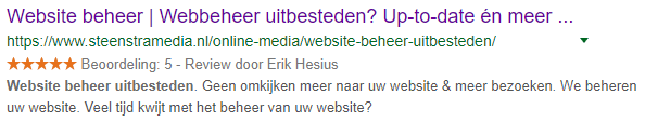 Yoast SEO omschrijving - Steenstra Media
