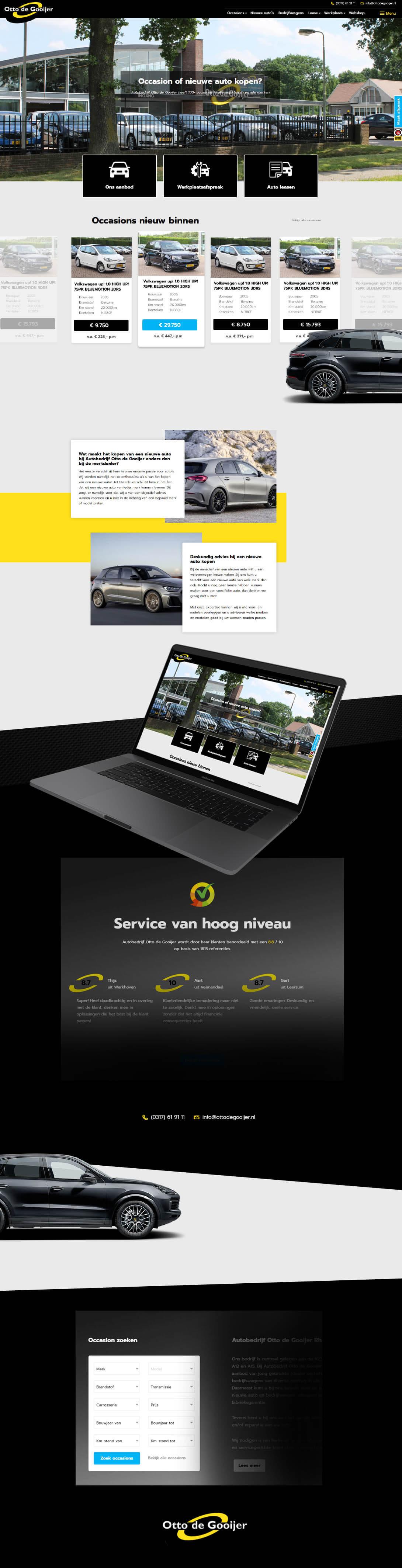 Autowebsite laten maken - Otto de Gooijer Steenstra Media