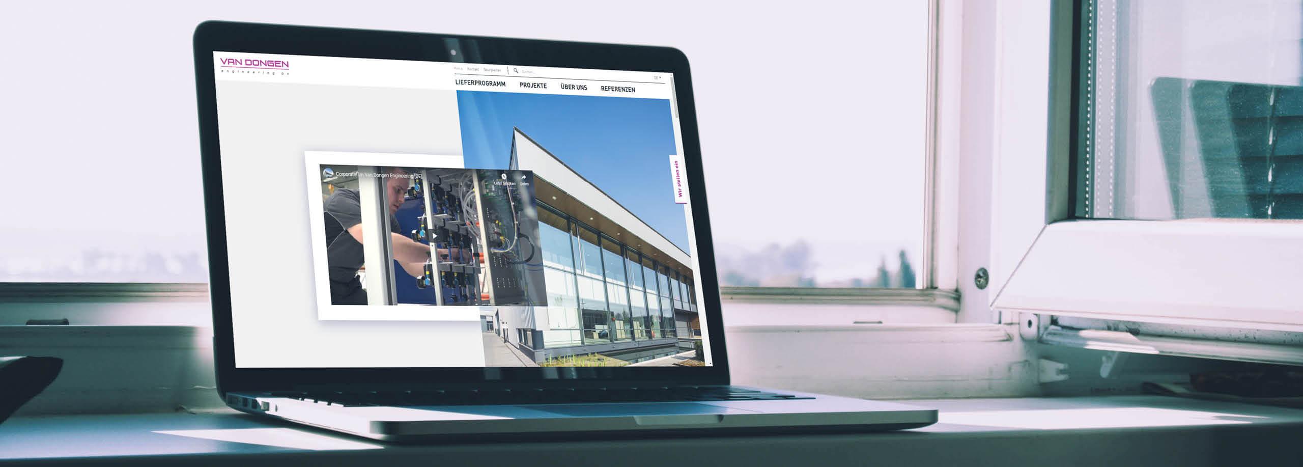 van dongen engineering banner website ontwerp laten maken