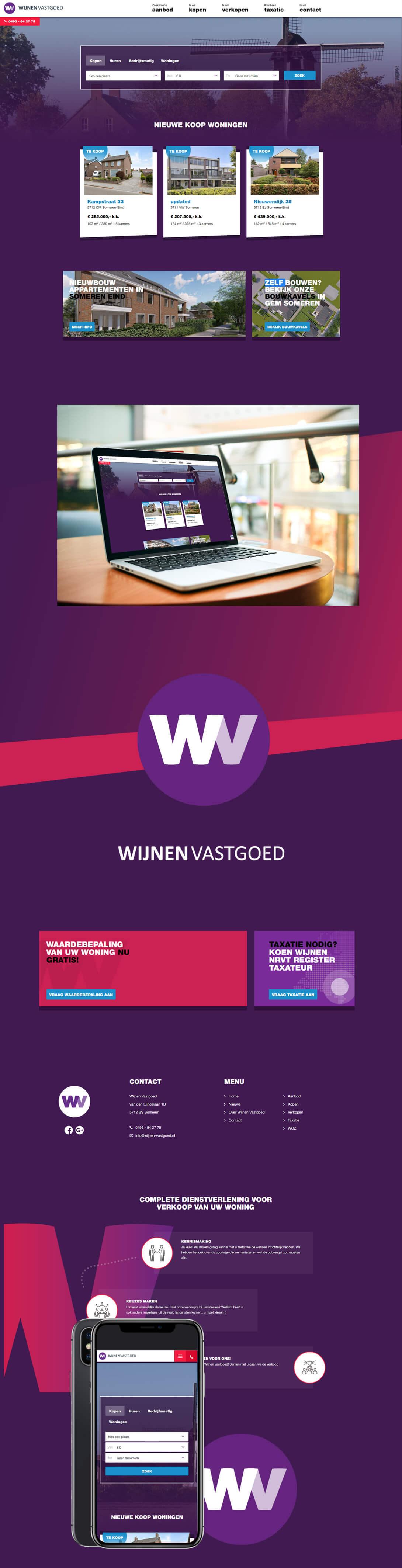 Wijnen Vastgoed Makelaarswebsite maken content steenstramedia