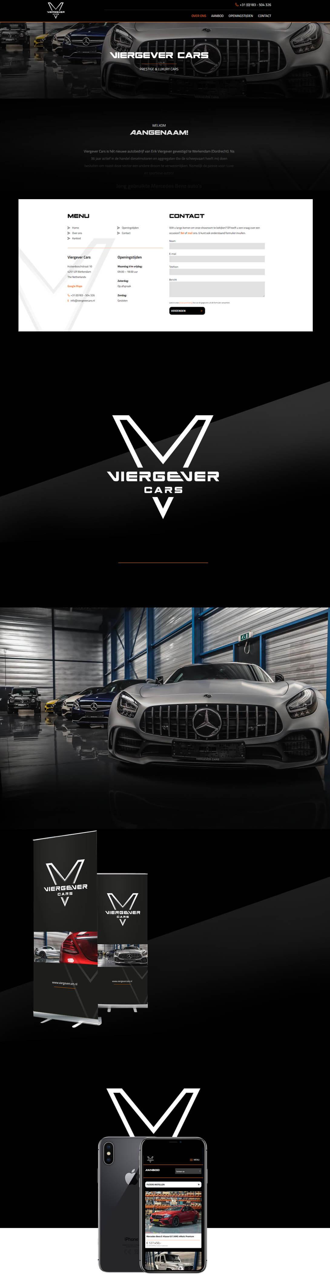 Viergevercars Luxe Autowebsite