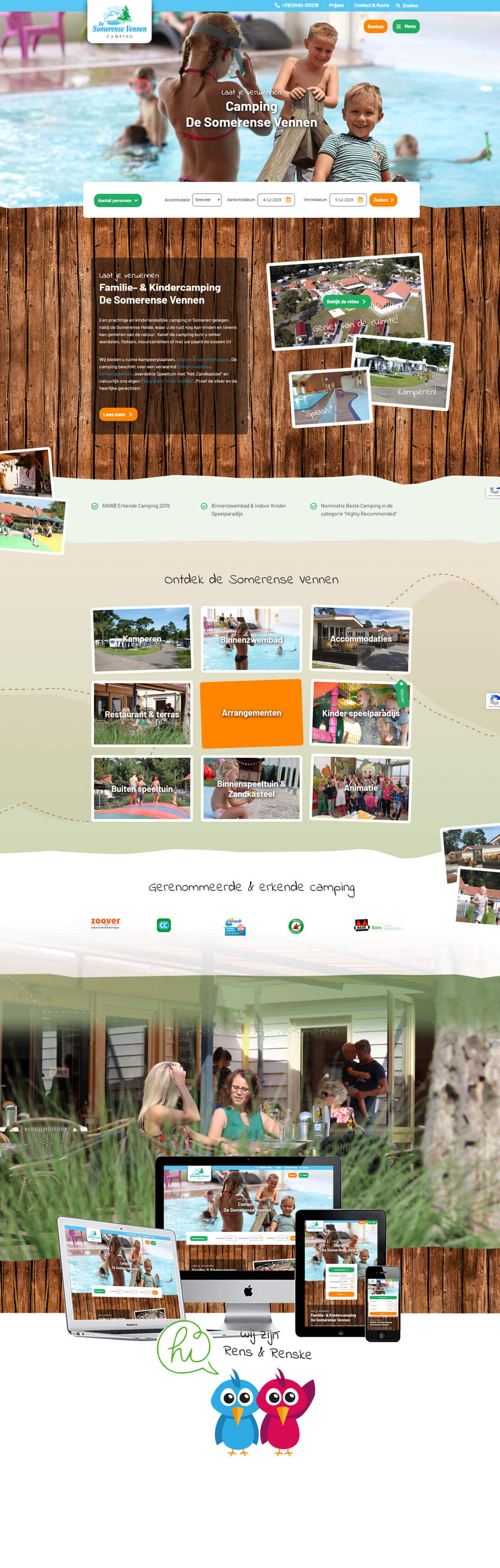 Nieuwe camping website design De Somerense Vennen - Steenstra Media