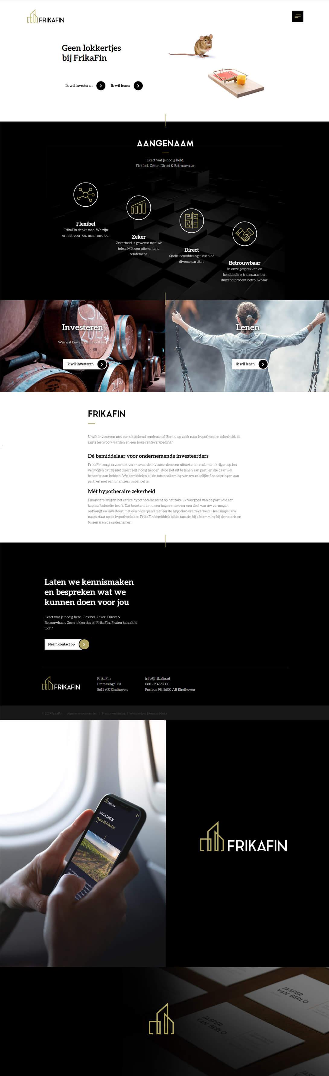frikafin website maken eindhoven-reclamebureau-internetbureau-logo-en-website-maken-steenstramedia