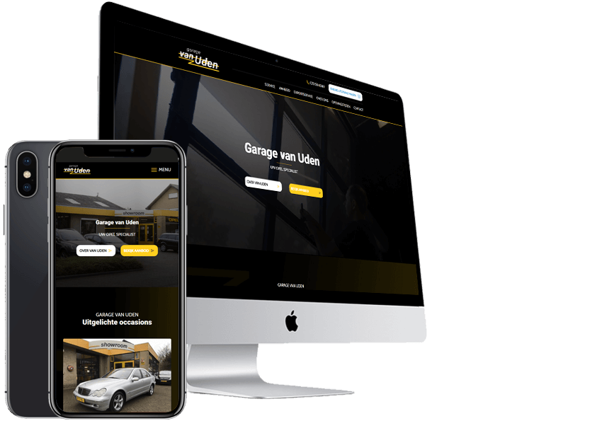 Auto Website-maken-garage-van-uden-Steenstra-Media