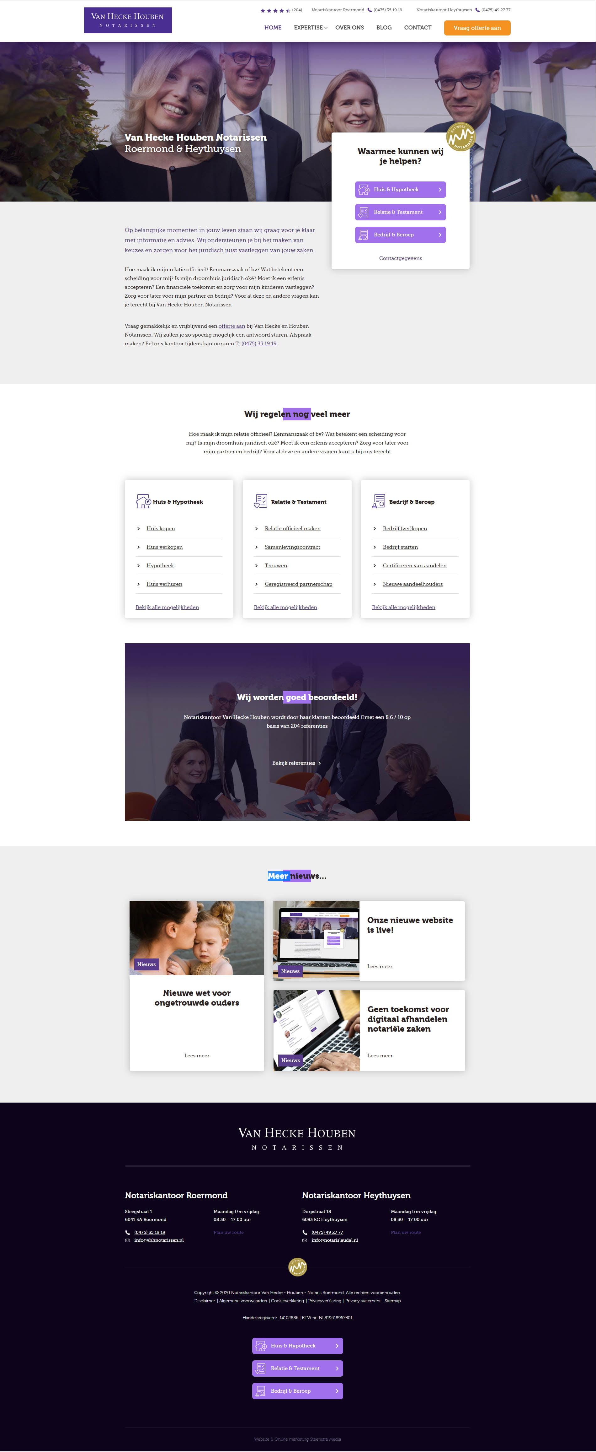 website-roermond-Hecke-Houben-Notarissen-Netwerk-SteenstraMedia