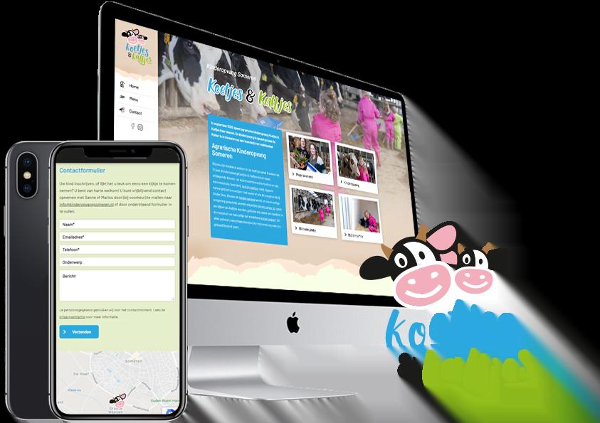 Website en logo-Koetjes en Kalfjes Kinderopvang Steenstra-Media