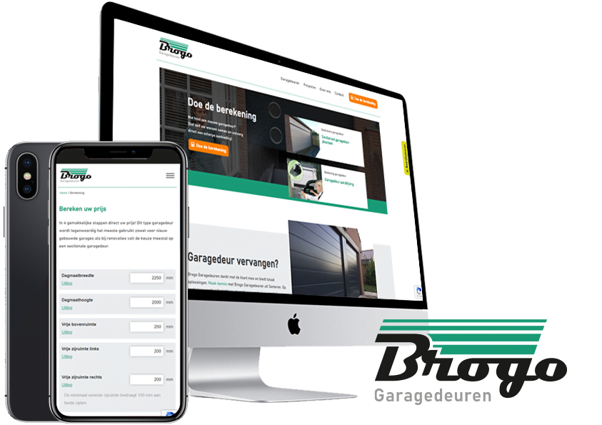 Website-en logo restyle Brogo Garagedeuren Someren Asten- Steenstra Media