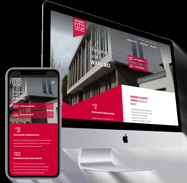 Website-Warebo-Geveltechniek- Steenstra Media Someren