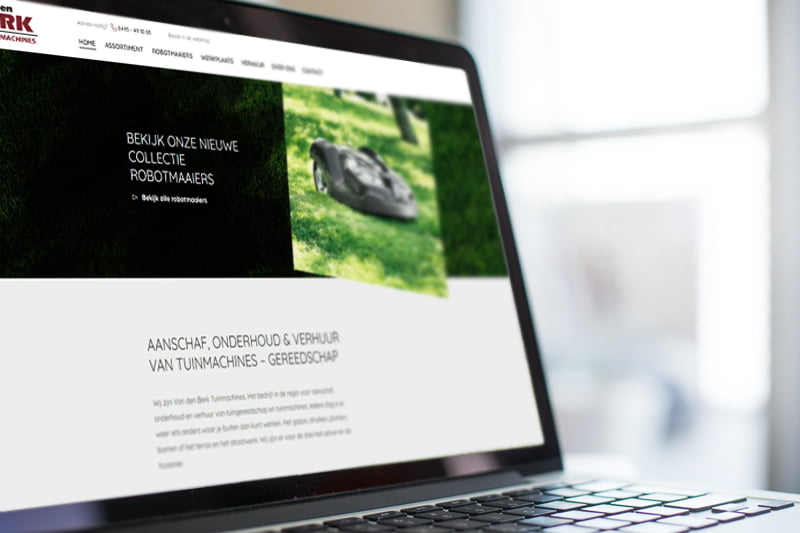 Nieuwe website Van den Berk Tuinmachines- Steenstra Media Reclamebureau