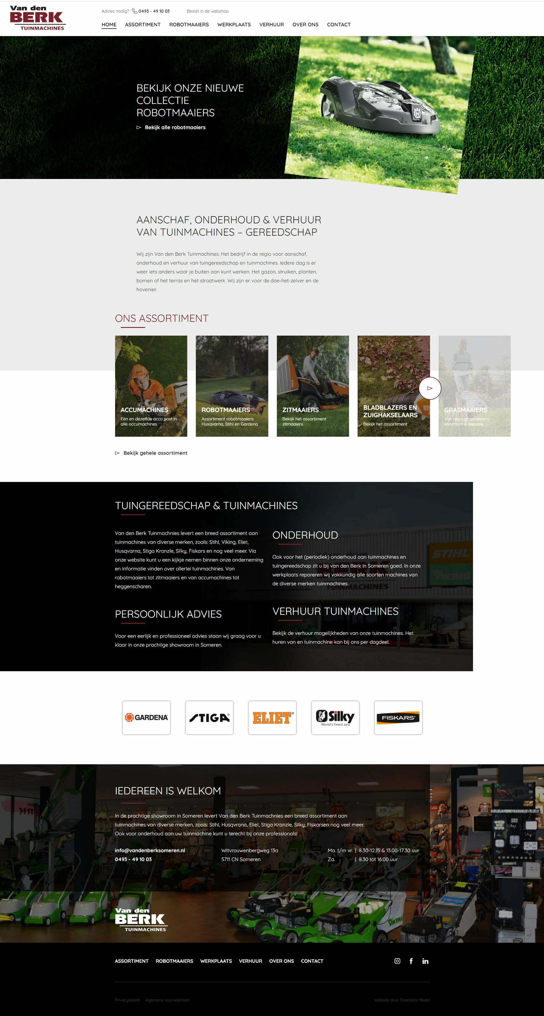 Website-someren-van-den-Berk-Tuinmachines