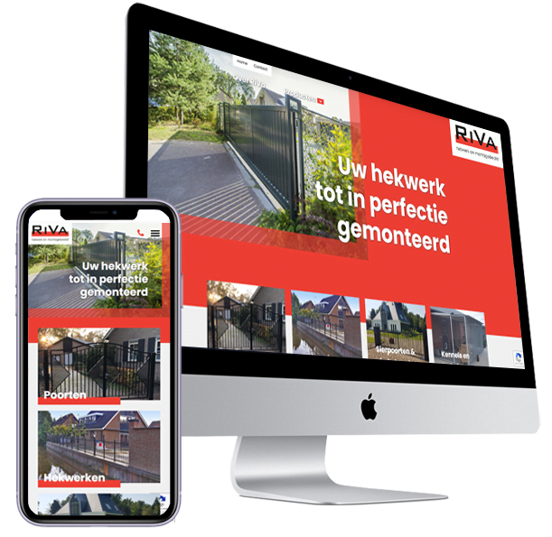 Website Riva Hekwerk Maarheeze - Steenstra Media Someren