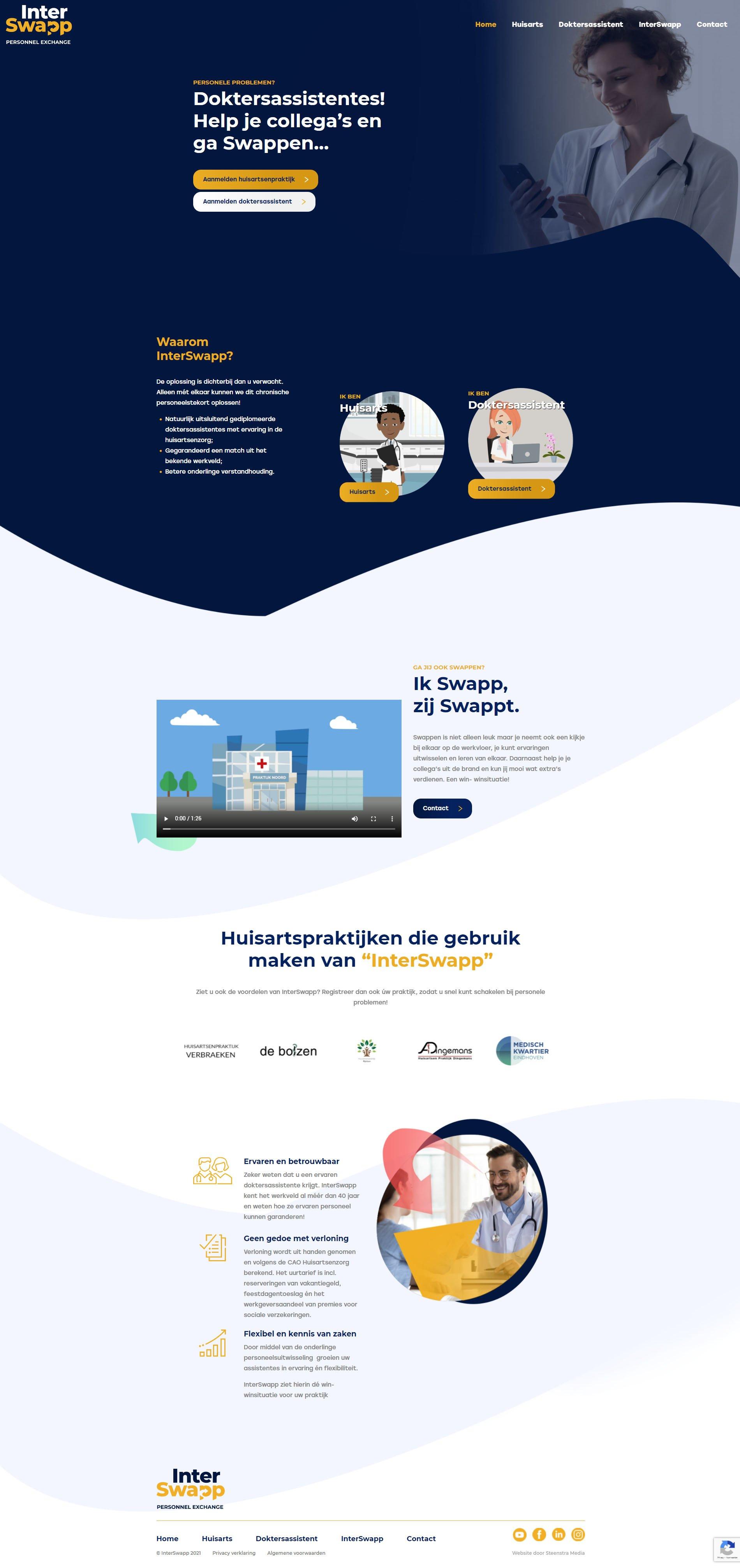 Website InterSwapp - website-laten-maken-beek-en-donk - Steenstra Media