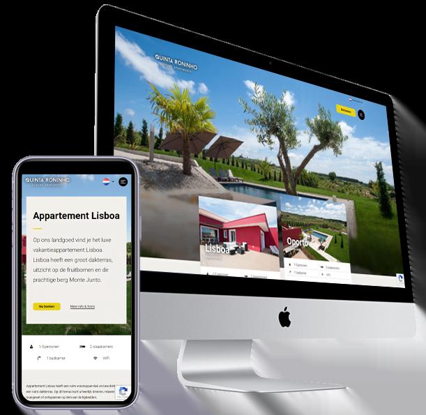 Website vakantiehuis maken - Luxe appartementen Portugal, Steenstra Media Someren
