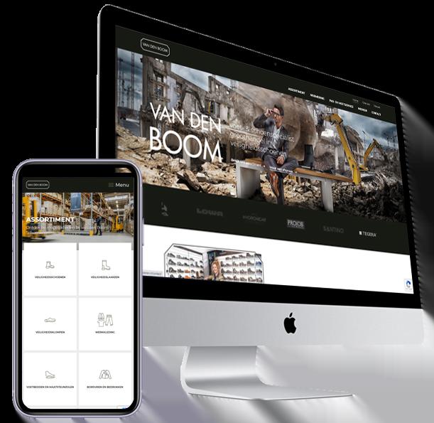 Website van den Boom Schoenen - Ospel - Steenstra Media Someren