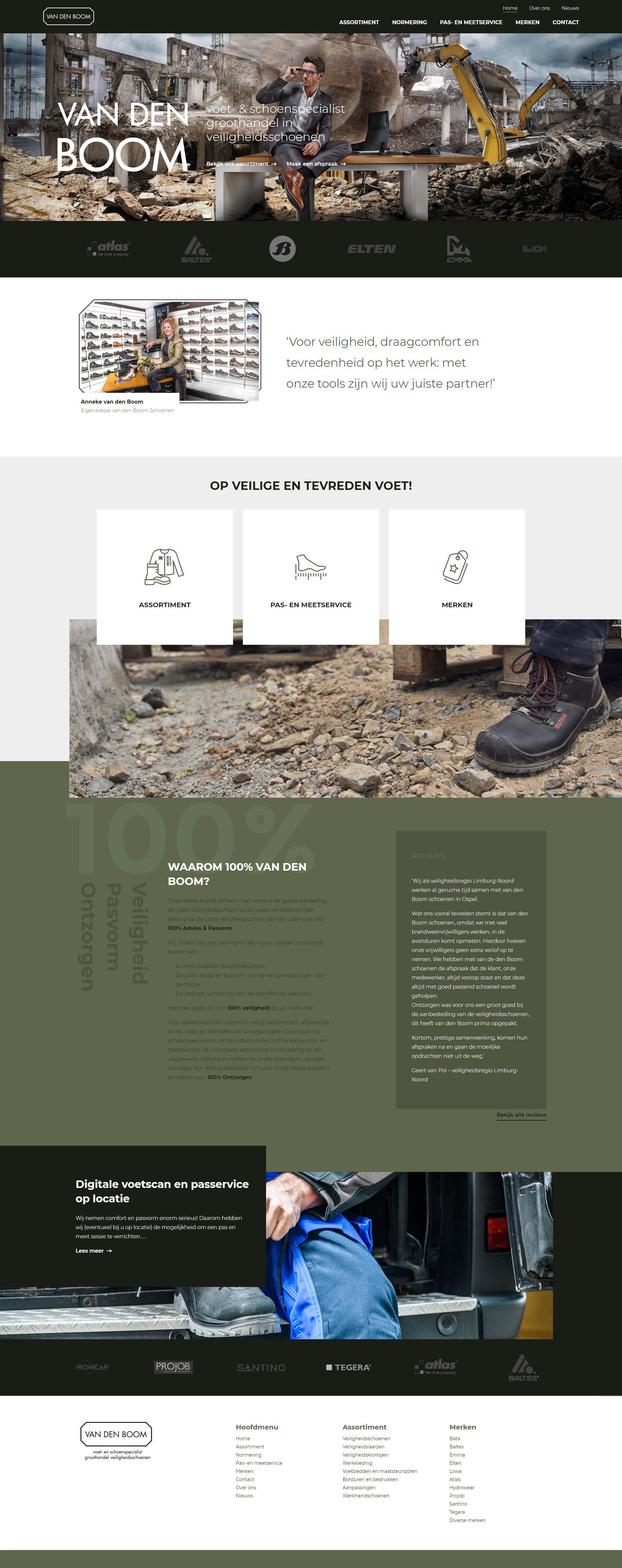 Website van den boom schoenen - door Steenstra Media Reclame- en Internetbureau