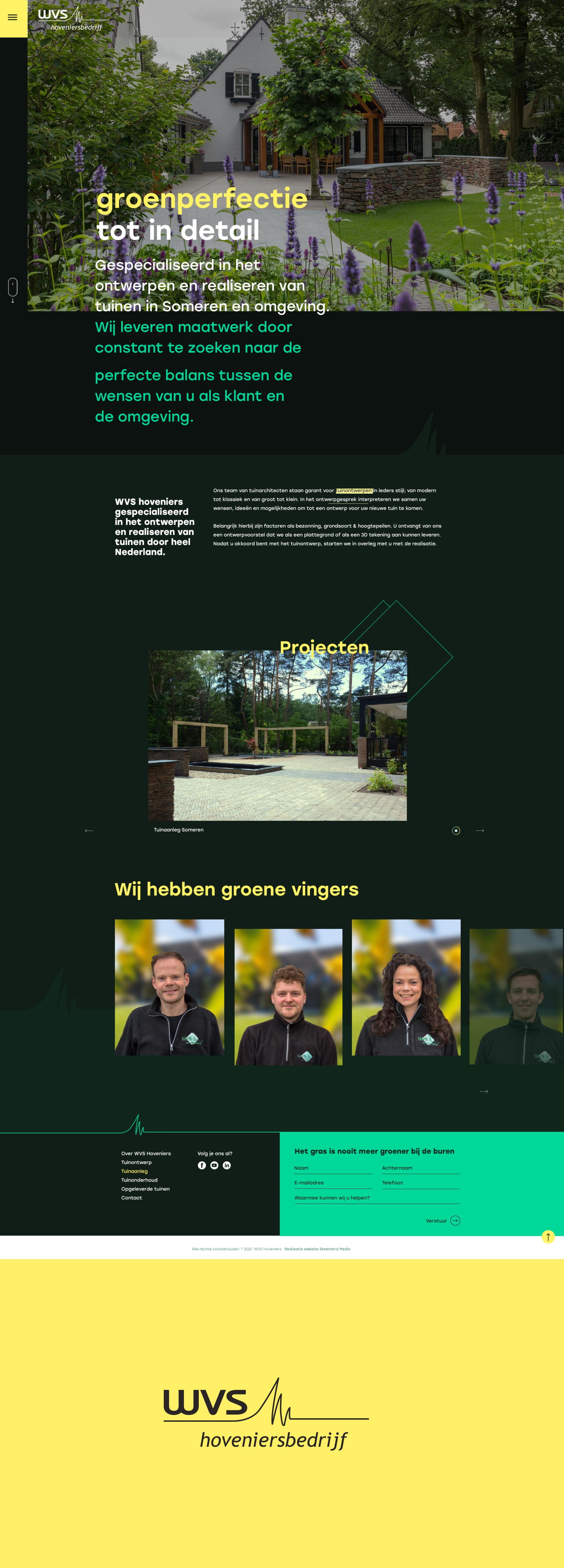 Hovenier website laten maken- WVS Hoveniers Someren - Steenstra Media Reclame- en Internetbureau